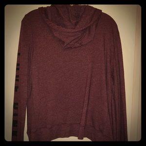 PINK maroon hoodie.